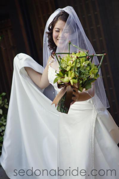 Wedding at Tlaquepaque, Sedona AZ., Image by SedonaBride.com