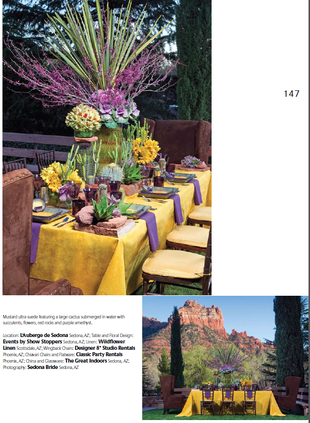 Contemporary Southwest Table Setting, Image by SedonaBride.com