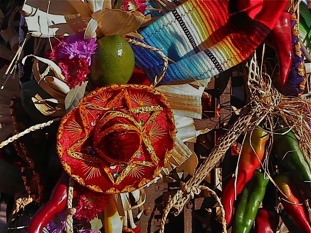 Mexican Fiesta Theme, Buffet Prop Details, Enchantment Resort, Sedona AZ.