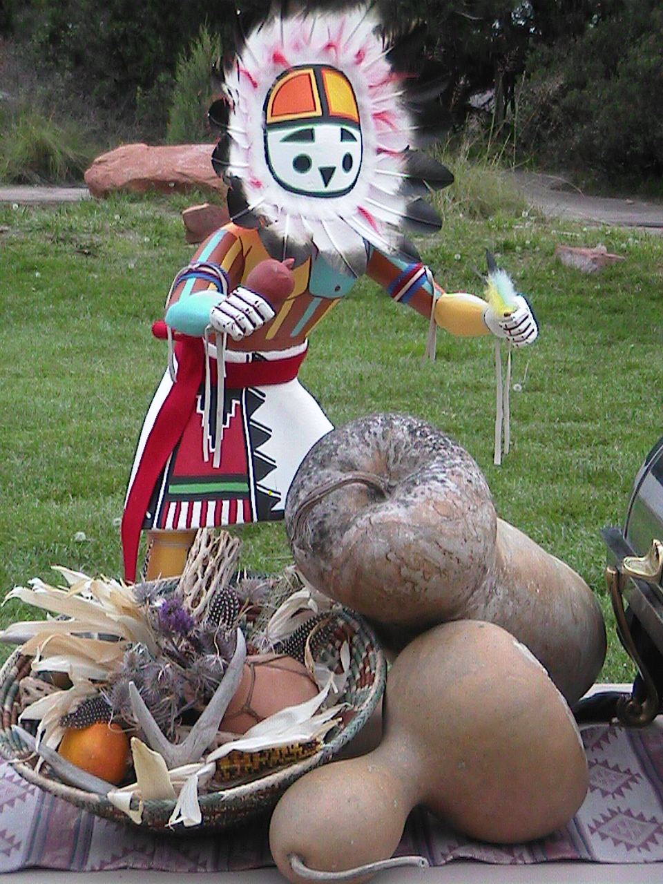 Native American Village, Kachina Doll Prop For Buffet, Image Provided By Show Stoppers