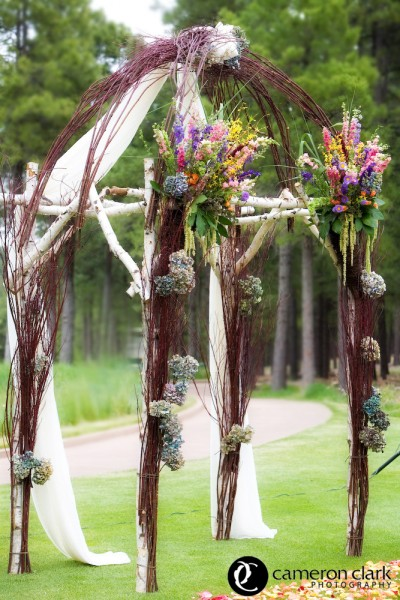 Birch Arbor With Vine Dome, Forest Highlands Country Club, Flagstaff AZ., Image by Cameron + Kelly Studios