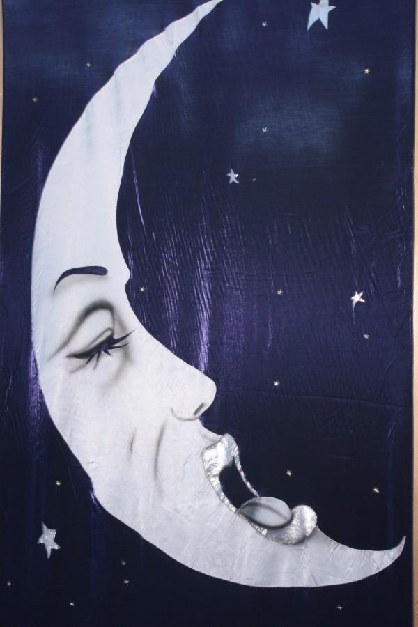 Yawning Moon Backdrop