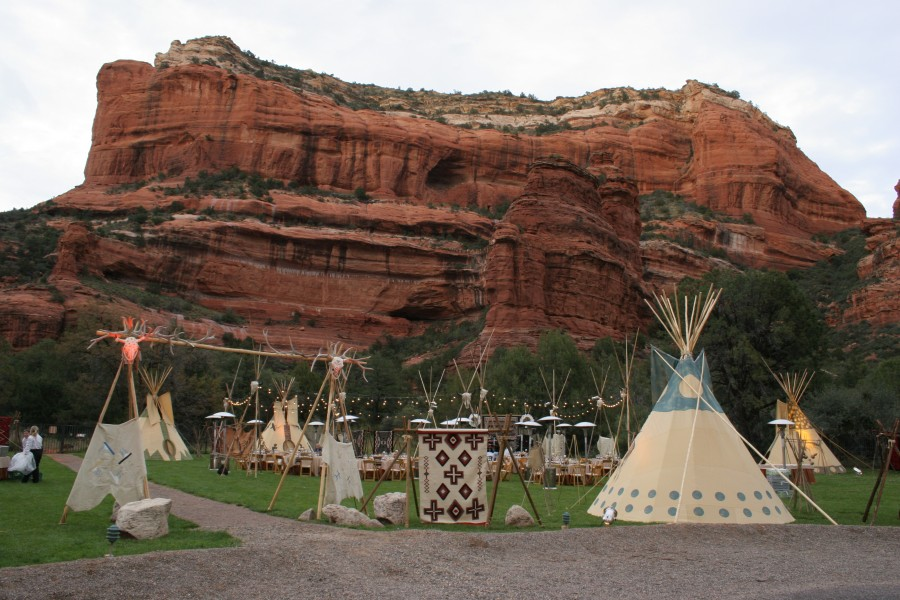 Native American Village, Enchantment Resort Circle, Image provided by Show Stoppers