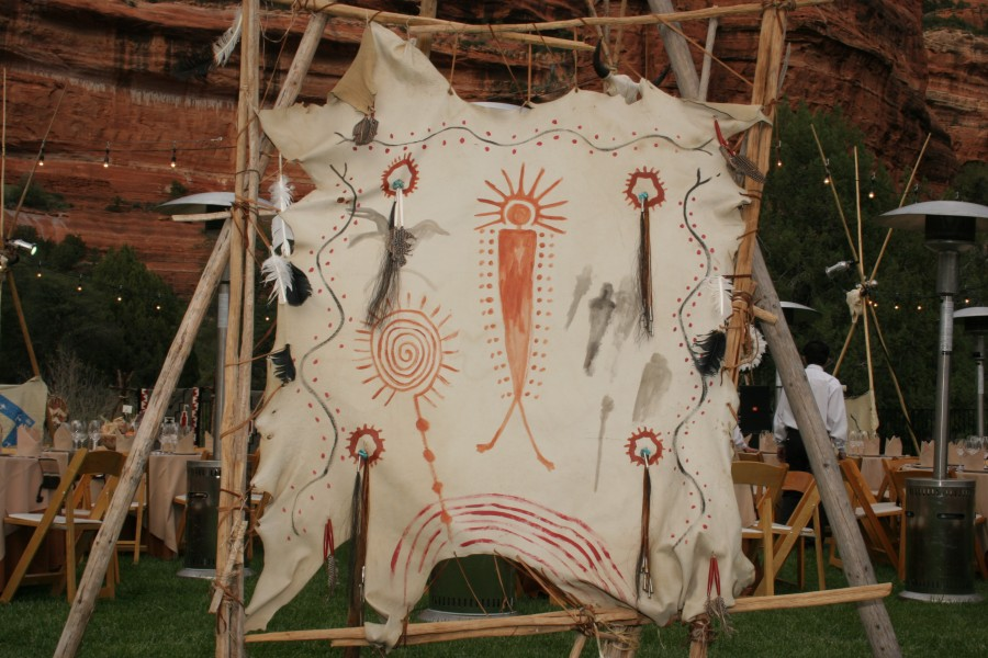 Native American Village, Shaman Screen, Image Provided By Show Stoppers