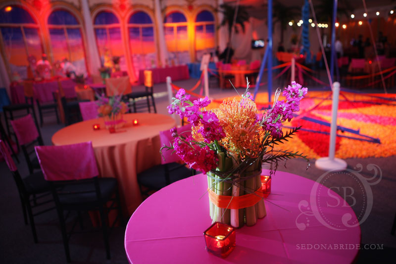 Phoenix Bride and Groom Gala, Main Room, Cocktail Arrangement