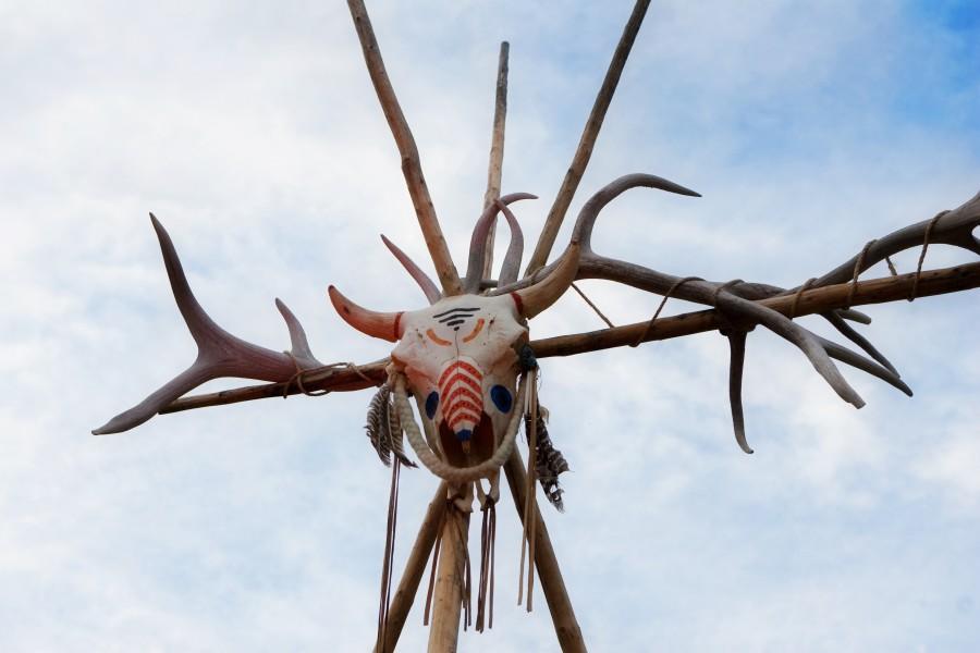 Native American Village, Village Entrance Detail, Image By Cameron + Kelly Studios