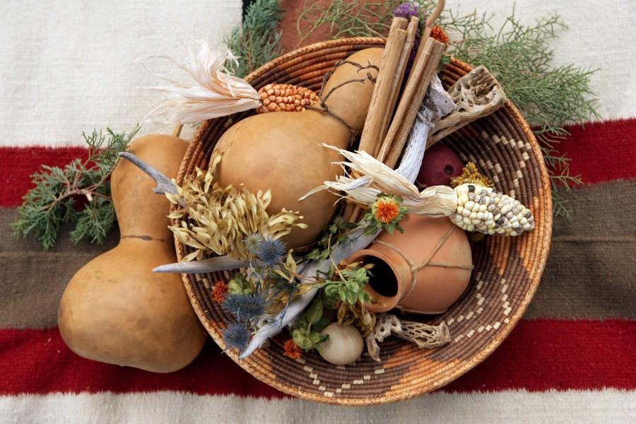 Native American Village, Enchantment Resort Circle, Gathering Basket Centerpiece, Image By Cameron + Kelly Studios