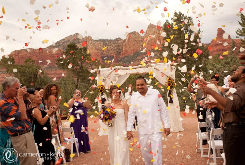 Outdoor Sedona Wedding, Image by Cameron + Kelly Studios