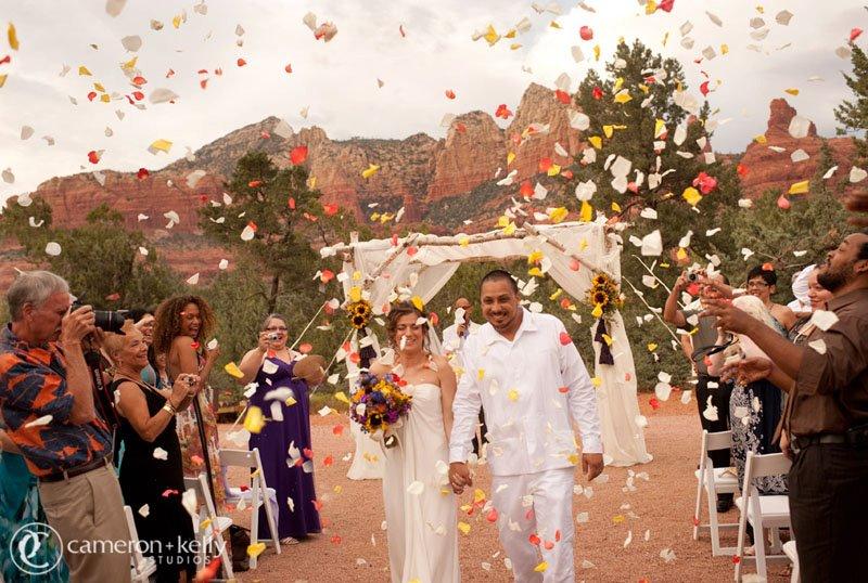 Outdoor Sedona Wedding, Image by Cameron + Kelly Studios