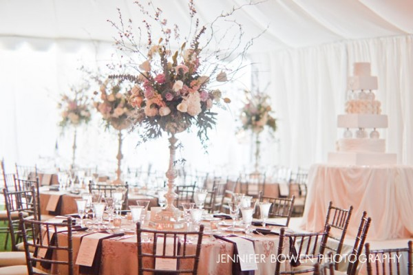 Table centerpieces at Paradise Valley Country Club