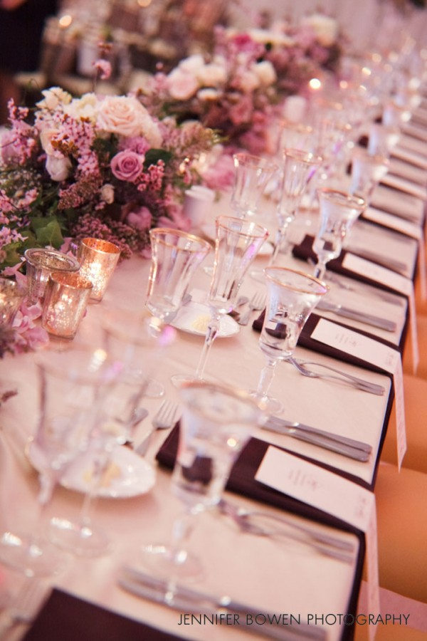 Head table at Paradise Valley Country Club.