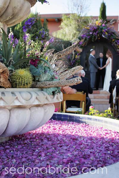 outdoor Sedona wedding