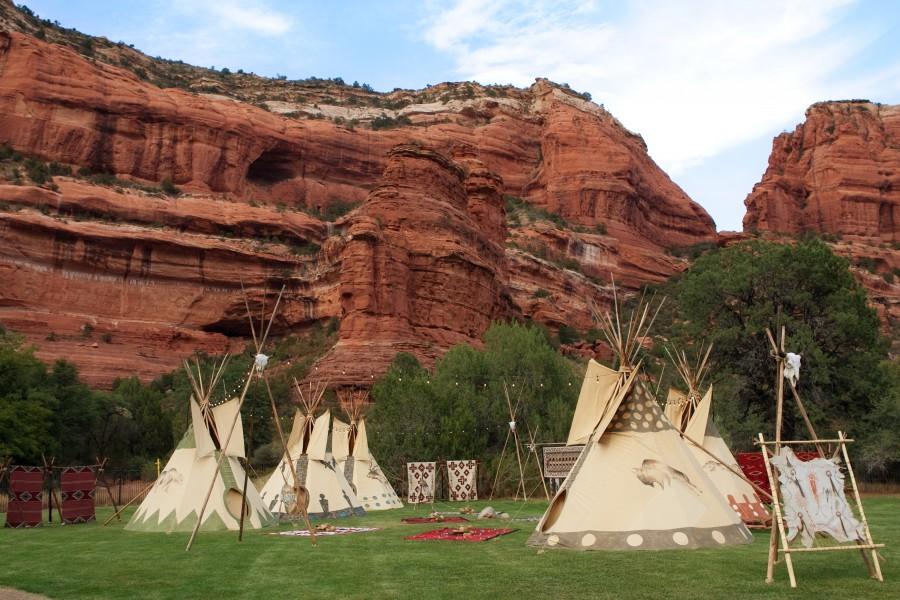 Native American Village Enchantment Resort Circle Image By Cameron Kelly Studios