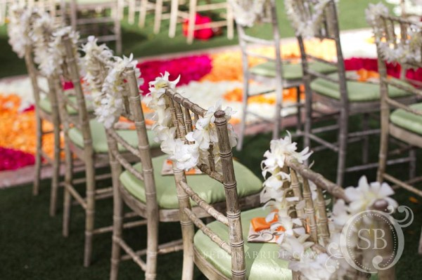 Chair backs with leis