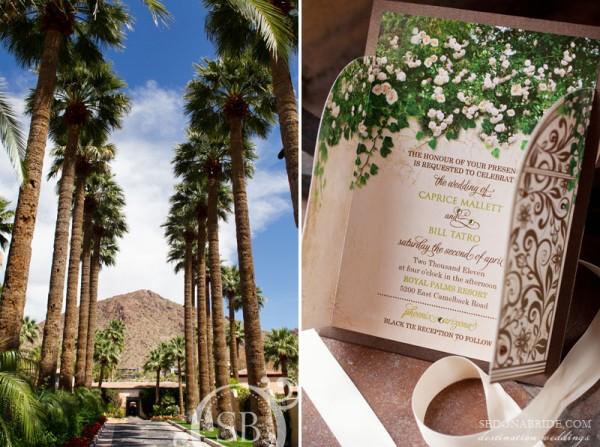 Invitations Caprice and Bill Wedding