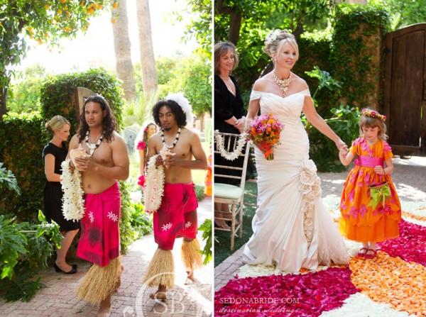 Wedding procession / Royal Palms
