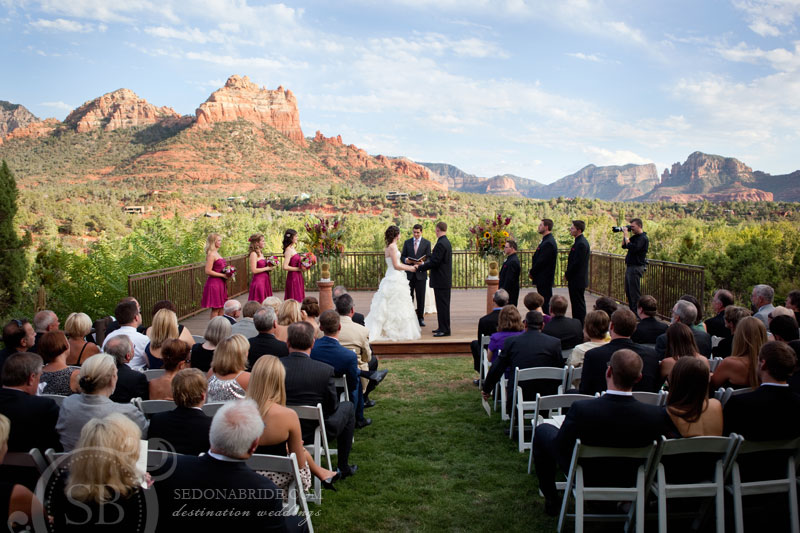 Wedding at L'Auberge de Sedona, Image by SedonaBride.com