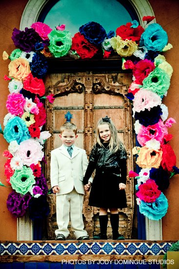 Door decoration / Dia de los Muertos themed wedding - Sedona Wedding ...