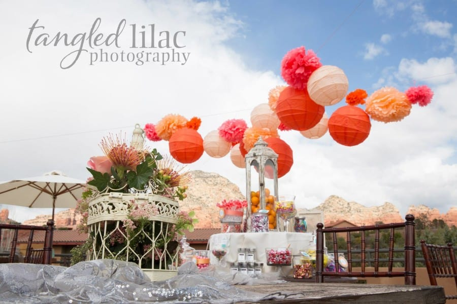 Roof top wedding at Sedona Rouge