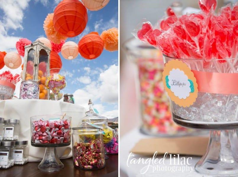 Sedona Wedding Details and Candy Bar