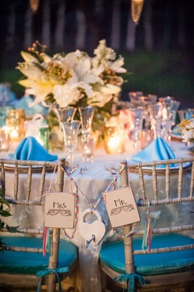 Bride and Groom chair decorations