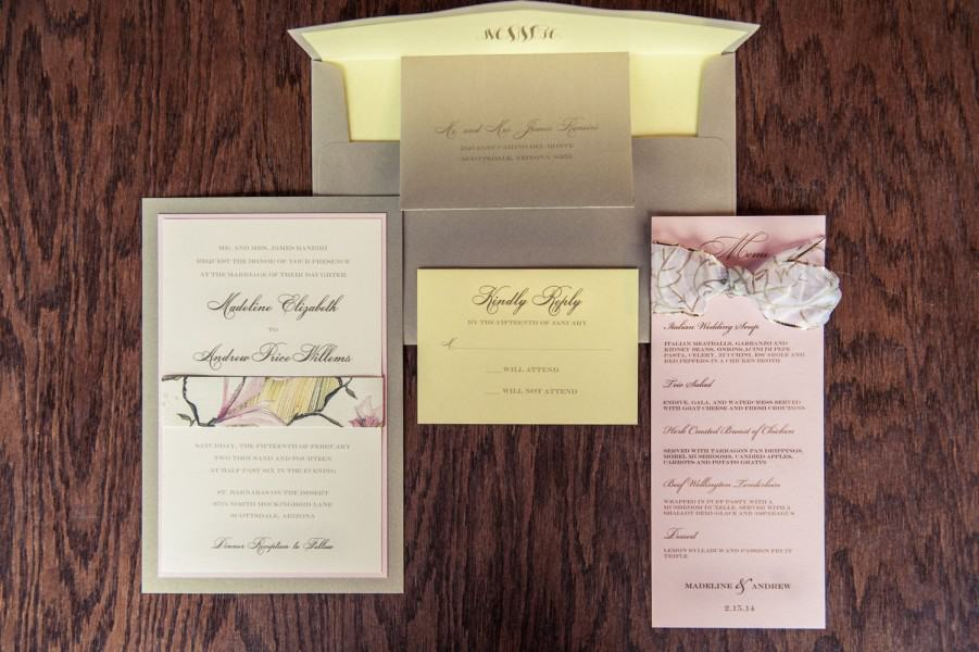 Sedona wedding invitations and paper products.